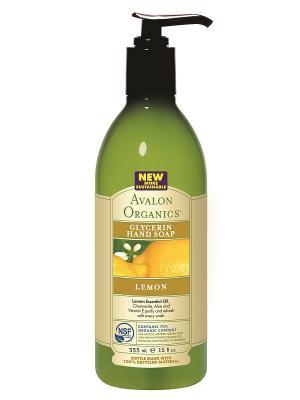 Глицериновое мыло для рук с маслом лимона, 355 мл Avalon Organics. Цвет: прозрачный