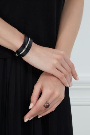 Кожаный браслет Herald Percy. Цвет: черный