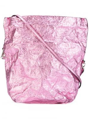 Сумка на плечо с откидным клапаном Zilla. Цвет: розовый и фиолетовый