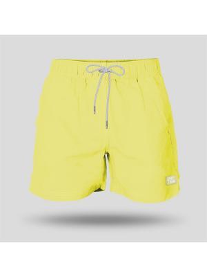 Шорты пляжные мужские JOHN FRANK. Цвет: желтый