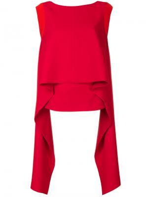 Драпированный топ Givenchy. Цвет: красный