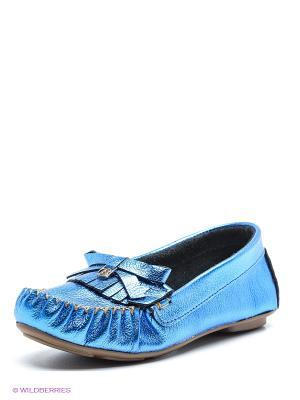 Мокасины Bibi. Цвет: синий