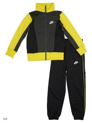 Костюм B NSW TRK SUIT PAC POLY Nike. Цвет: черный, желтый