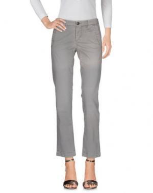 Джинсовые брюки MONOCROM. Цвет: серый