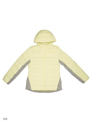Куртка дет. спорт. YG J DOWN JKT  ICEYEL/ICEYEL/SILVMT Adidas. Цвет: желтый, серый