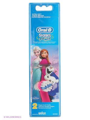 Сменные насадки ORAL-B Kids Frozen для детей 2шт электрических зубных щеток ORAL_B. Цвет: малиновый