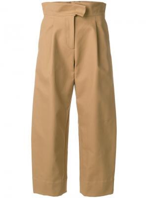 Укороченные брюки с завышенной талией Carven. Цвет: телесный