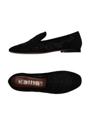 Мокасины KALLISTÈ. Цвет: черный