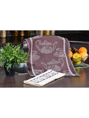 Набор кухонных полотенец КОФЕ коричневый  (3х2шт.) 40х60 TOALLA. Цвет: коричневый
