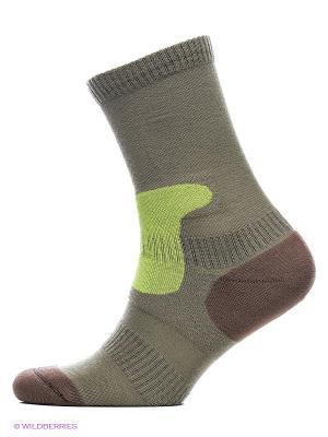 Носки ASKOMI. Цвет: зеленый, коричневый