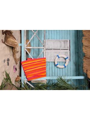 Полотенце пляжное Сolor 90*170 цв. мультиколор TOALLA. Цвет: оранжевый