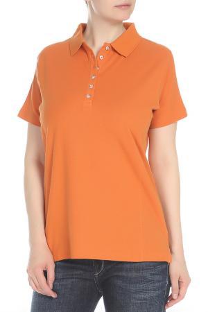 Футболка-поло HARTWELL. Цвет: оранжевый