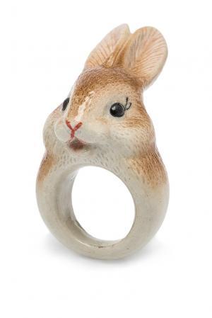 Кольцо 184775 Nach Jewellery. Цвет: коричневый