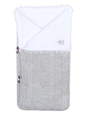 Конверт-одеяло Малышок Сонный гномик. Цвет: серый