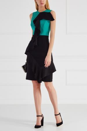 Комбинированное платье Chapurin. Цвет: зеленый