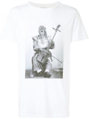 Футболка Kurt Cobain Les Benjamins. Цвет: белый