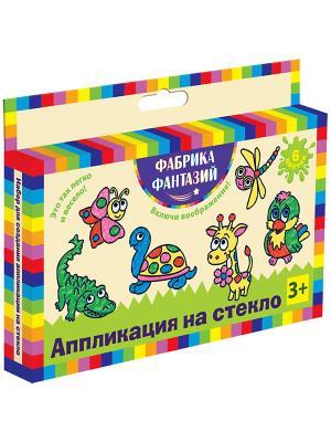 Набор для создании аппликации на стекло Фабрика Фантазий. Цвет: черный, желтый, зеленый, красный, розовый, синий