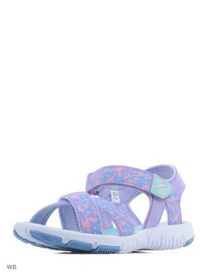 Сандалии ANTA. Цвет: белый, голубой, фиолетовый