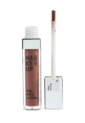 Блеск для губ Make Up Factory. Цвет: коричневый