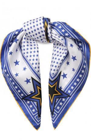 Шелковый платок с принтом Givenchy. Цвет: белый