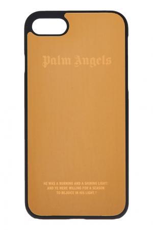 Золотистый чехол для iPhone 7 Palm Angels. Цвет: золотой