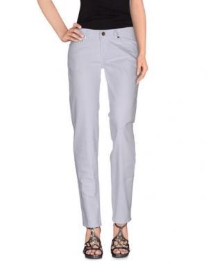 Джинсовые брюки LIST. Цвет: белый
