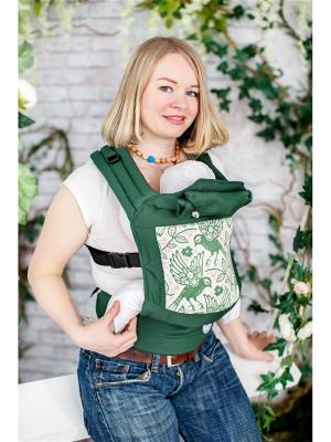 Эргономичный рюкзак Счастье Sling Me. Цвет: зеленый