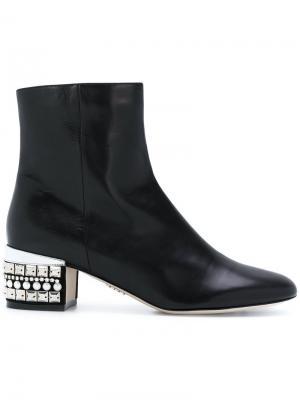 Декорированные ботинки Rodo. Цвет: чёрный
