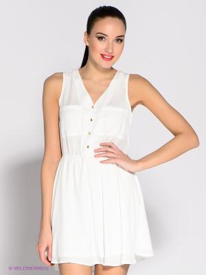 Платье Eunishop. Цвет: белый
