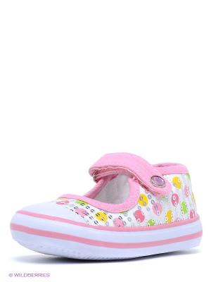 Туфли PlayToday. Цвет: розовый, желтый, белый, салатовый