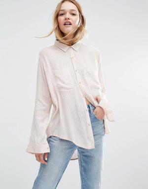 Rollas Рубашка суперзауженного кроя в полоску. Цвет: мульти