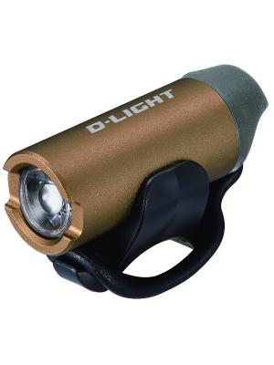 Передний фонарь с зарядкой от USB D-light. Цвет: бронзовый