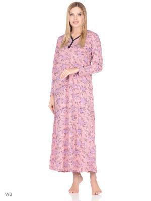 Ночная рубашка женская lawiggi. Цвет: розовый