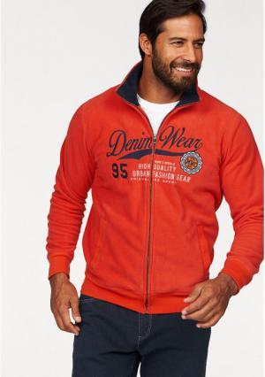 Флисовая куртка MANS WORLD MAN'S. Цвет: оранжевый
