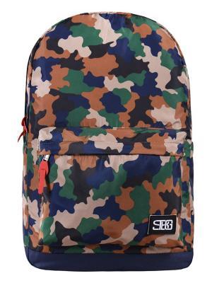 Рюкзак Street Bags. Цвет: зеленый, коричневый