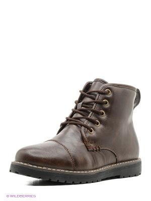 Ботинки KEDDO. Цвет: темно-коричневый