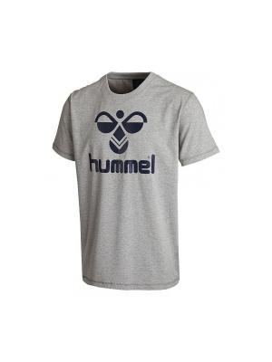 Футболка CLASSIC BEE COTTON HUMMEL. Цвет: серый