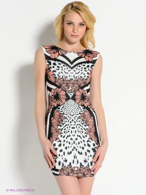 Платье AX Paris. Цвет: черный, персиковый, белый