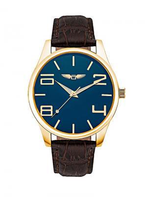 Часы наручные okami. Цвет: коричневый, золотистый