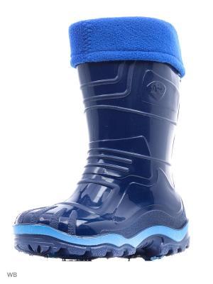 Резиновые сапоги Дюна. Цвет: темно-синий, голубой, синий
