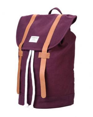 Рюкзаки и сумки на пояс SANDQVIST. Цвет: баклажанный