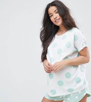 ASOS Maternity Пижамный комплект с шортами. Цвет: зеленый