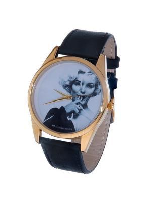 Часы Mitya Veselkov Монро с бусами Арт. Gold-8. Цвет: темно-зеленый
