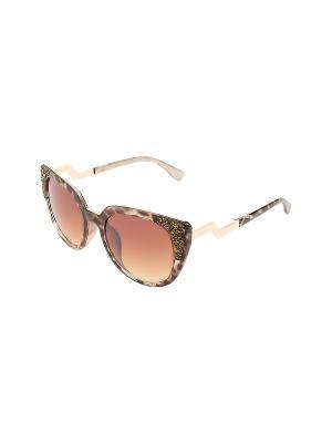 Солнцезащитные очки Gusachi. Цвет: коричневый, золотистый, серый