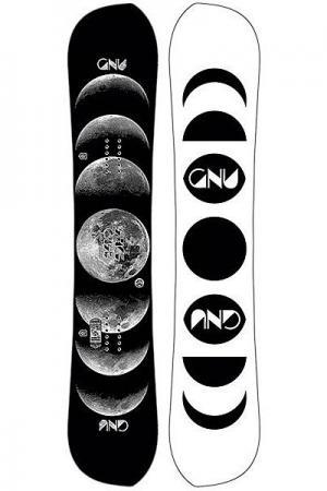 Сноуборд  Gnu Fb Spcecase A Ast Black. Цвет: черный