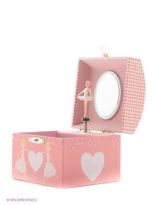 Музыкальная шкатулка с фигуркой в форме купола Jakos. Цвет: розовый, белый, бледно-розовый, красный