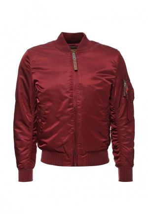 Куртка утепленная Alpha Industries. Цвет: бордовый