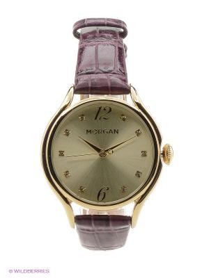 Часы Morgan. Цвет: фиолетовый