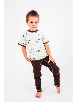 Пижама OSA Kids. Цвет: коричневый, светло-голубой