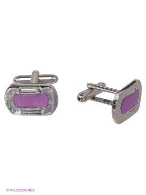 Запонки JD.ZARZIS. Цвет: фиолетовый